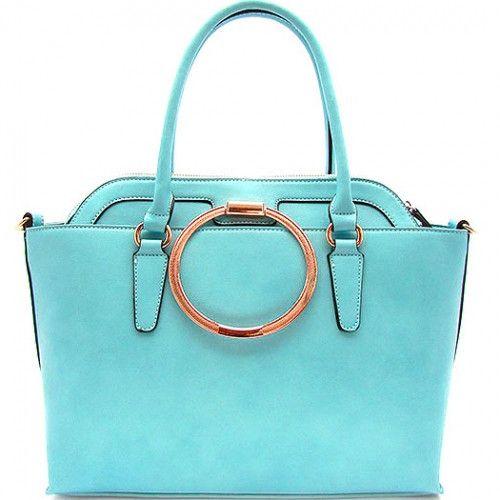 2 IN 1 Designer Inspired Leatherette Tote with Bonus Bag