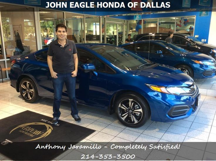 Another happy customer Anthony Jaramillo, reviews his 2015 Honda Civic Coupe EX purchased from Michael Burk at John Eagle Honda of Dallas.  http://bestautodealerships.net/Dallas-TX-John-Eagle-Honda-of-Dallas-Honda-Dealer-Reviews-Anthony-Jaramillo-2015-Honda-Civic.htm