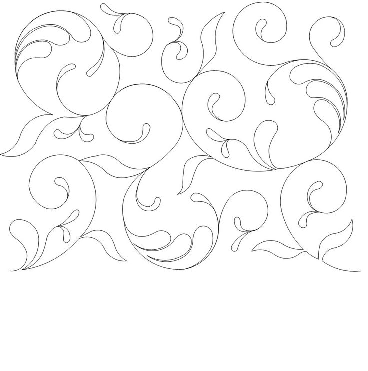 721 best Free motion quilting designs - drawn images on Pinterest ... : free arm quilting patterns - Adamdwight.com