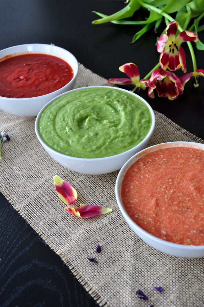 Authentic Mexican Salsa Trilogy - Salsa de Guajillo, Green Salsa and Salsa de Cacahuate