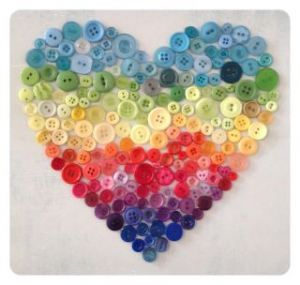 button heart.   Would be so cute in a shadow cox frame in the girls room and we could make it together