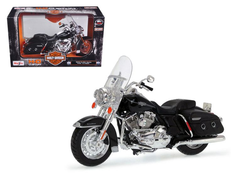 2013 Harley Davidson FLHRC Road King Classic Black Bike Motorcycle Model 1/12 by Maisto - Wheels roll and steer. Made of die cast metal with some plastic parts. Approximate Dimensions: L-8, H-4.25, W-1.75 Inches. Please note that manufacturer may change packing box at anytime. Product will stay exactly the same.-Weight: 1. Height: 5. Width: 9. Box Weight: 1. Box Width: 9. Box Height: 5. Box Depth: 5