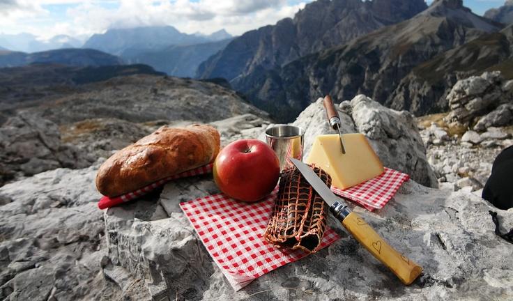 Picknick an den drei Zinnen / Sextener Dolomiten (Foto wohlgeraten.de)