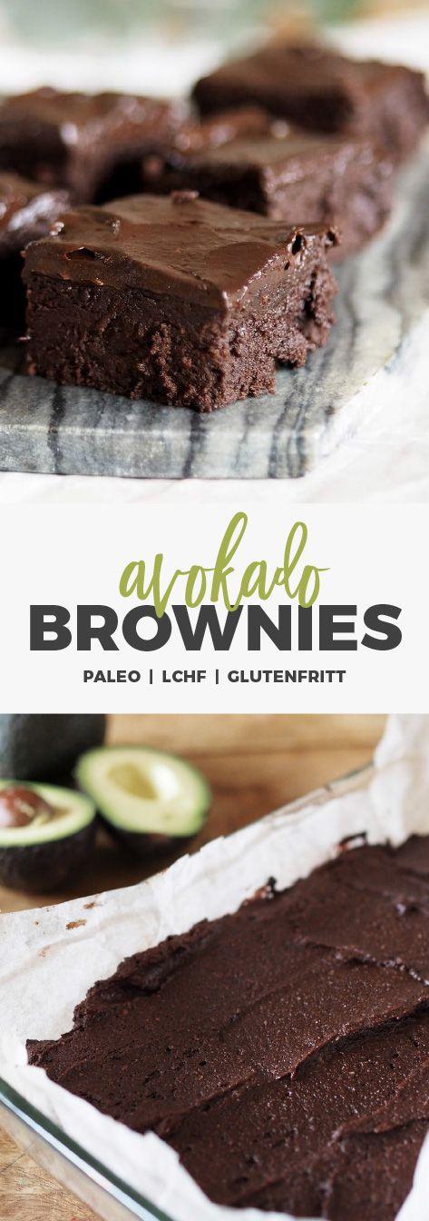 Avokado brownies - paleo, LCHF, glutenfritt
