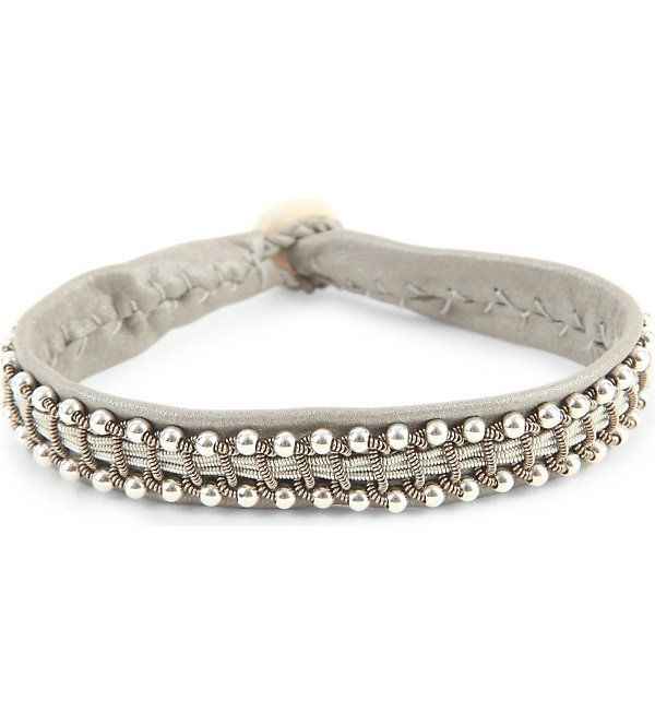 MARIA RUDMAN - Leather and pewter bracelet | Selfridges.com
