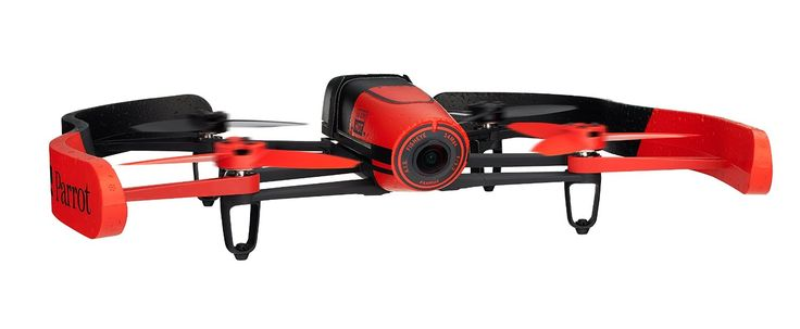 Parrot Bebop Quadcopter Parrot Drone Controller Review, 180-degree view with 14 megapixel camera, long battery life, low cost parrot drone controller