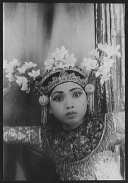Balinese dancer Ni Gusti Raka, in the Legong. She is one of the most prominent dancers of Bali and has great influence of Balinese art