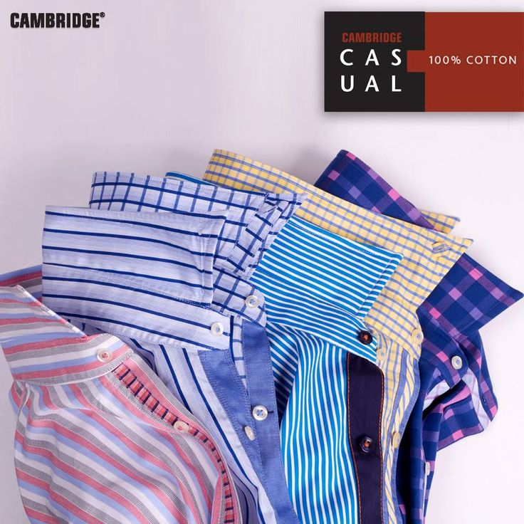 Cambridge Casuals   Semi-formal pure cotton shirts. These are tailored-fit full sleeves shirts, complete the perfect wardrobe for every occasion..!!  Shop Now : http://goo.gl/O0lh1W