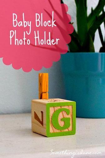 DIY Baby Block Photo Holder |