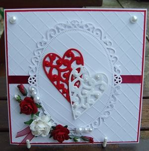 17 Best Images About Ruby Wedding Anniversary Card Ideas On Pinterest