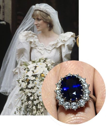 Blue sapphire engagement ring of Diana Spencer, Princess of Wales