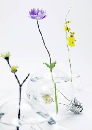 Available from the Yumanako website, the vases are all made from recycled bulbs, so prices vary depending on the style.