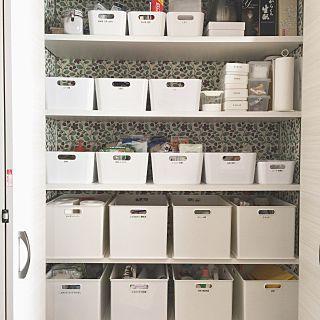 ニトリ収納BOXのインテリア実例 | RoomClip (ルームクリップ) Kitchen/ダイソー/ナチュラル/IKEA/イケア/北欧/ニトリ/パントリー/