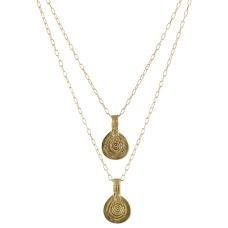 Double Berber Pendant Necklace
