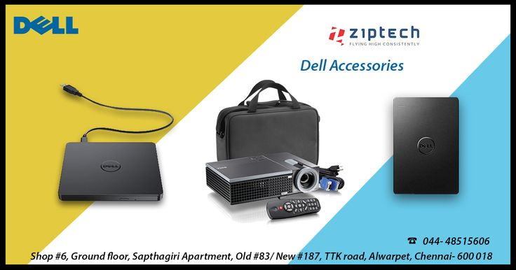 Shop Dell Original Accessories ! Now available on Ziptech Store -  Alwarpet. 100% genuine products with satisfaction guaranteed on all shopping. Call us for more details @ 044-48515606.