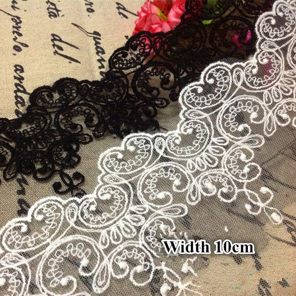 5Yards/Lot Fabric Lace Black White Sweet Cordate Lace Trim  DIY Craft Materials  Clothing Accessories Lace Embroidery //Price: $9.95 & FREE Shipping //     #crafts #sewing