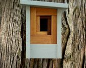 Craftsman Birdhouse, Modern- The Camera Shutter. $75.00, via Etsy.