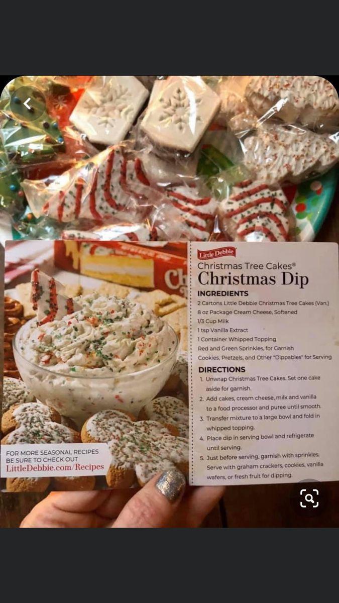 Little Debbie Christmas Cake Dip Christmas Tree Cake Seasonal Recipes Christmas Cake