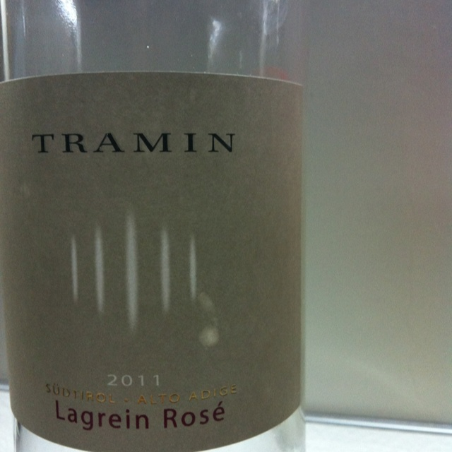 Lagrein Rosè. Not amazing.