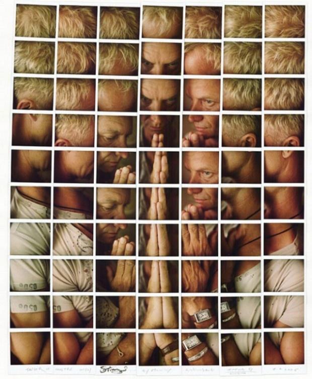 Inspiration: Epic Polaroid Composite Portraits of Celebrities by Maurizio Galimberti