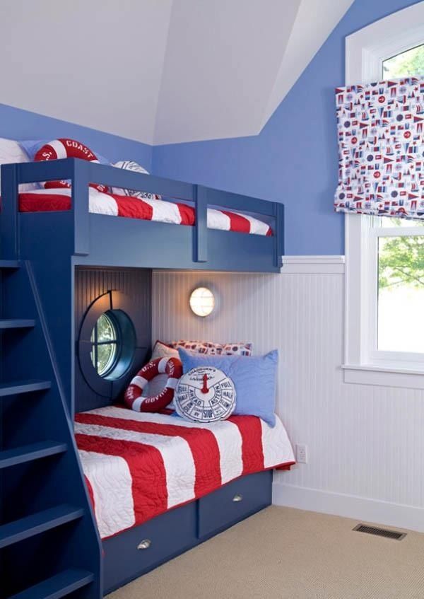 Nautical themed kids room