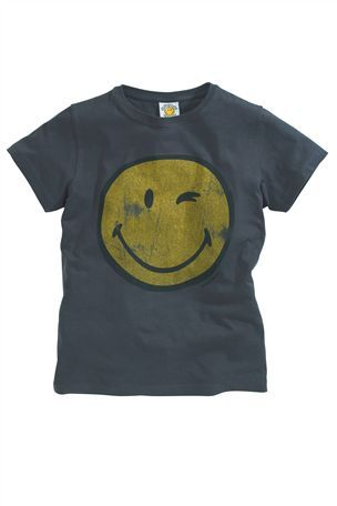Grey Smiley Face T-Shirt