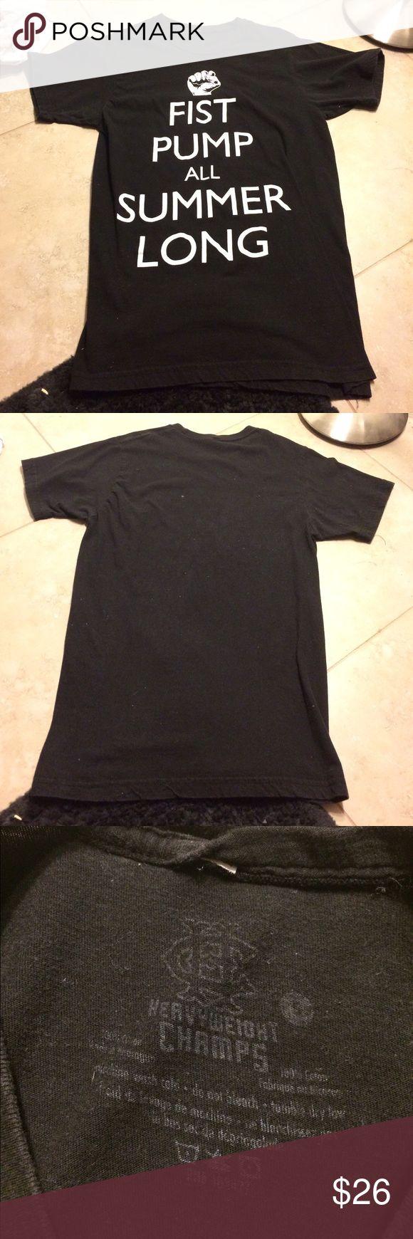 Fist Pump All Summer Long T-Shirt Fist pump all summer long heavy weight champs t-shirt, size small. no trades final sale. Shirts Tees - Short Sleeve