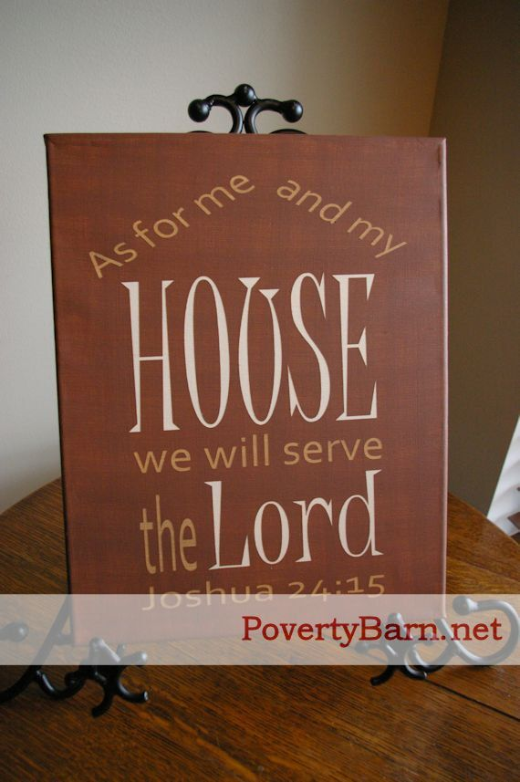 As For Me And My House Canvas Art By Poverty Barn This