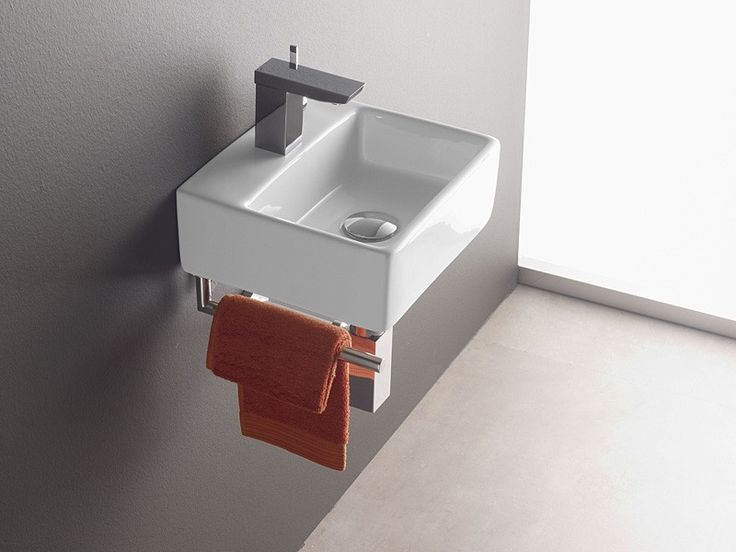 Wandmontage Waschbecken BERMEO 4901 inkl Handtuchhalter