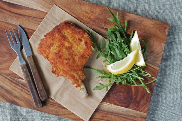 Golden Fried Veal Cutlets alla Milanese.  Recipe: http://food52.com/blog/8574-cotoletta-alla-milanese. #Food52