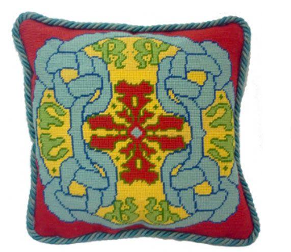 """Celtic Knot 14"""" needlepoint cushion kit"""