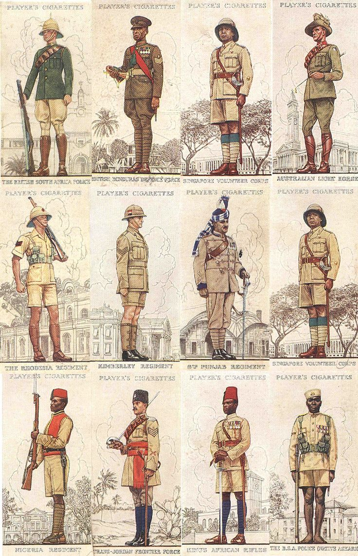 Vintage Uniform Cigarette Cards