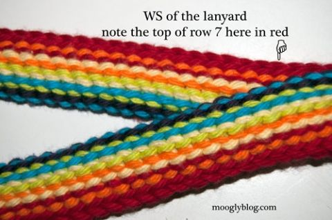 Rainbow Lanyard - free crochet pattern with photos and written instructions on mooglyblog,com