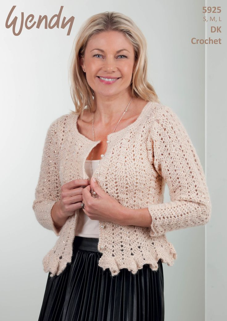 Wendy DK Crochet - Leaflet 5925 http://www.tbramsden.co.uk/catalog/patterns/womens/5925