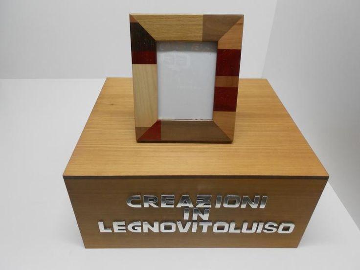 porta foto in legno massello  di creazioniinlegnovitoluiso su DaWanda.com