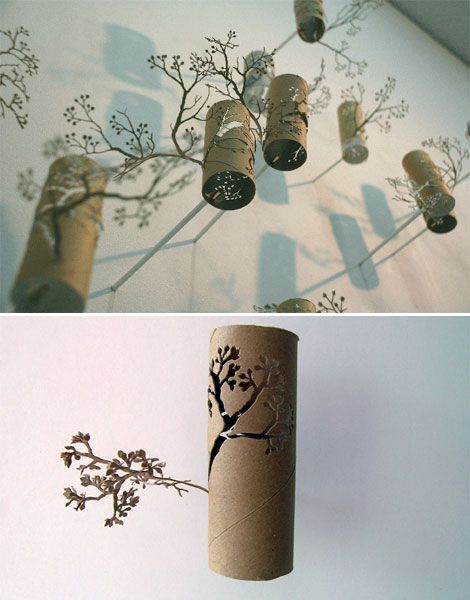 Great way to do something usful with those toilet paper rolls! Decorate ur room with a forest cut out and flowers ! Awesome ! @sarah rose