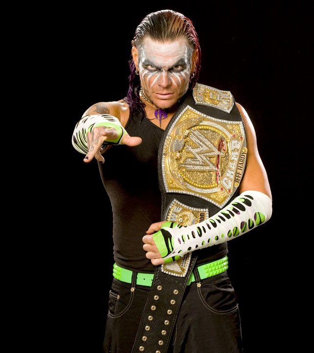 Jeff Hardy, 1st Time As WWE Champion.