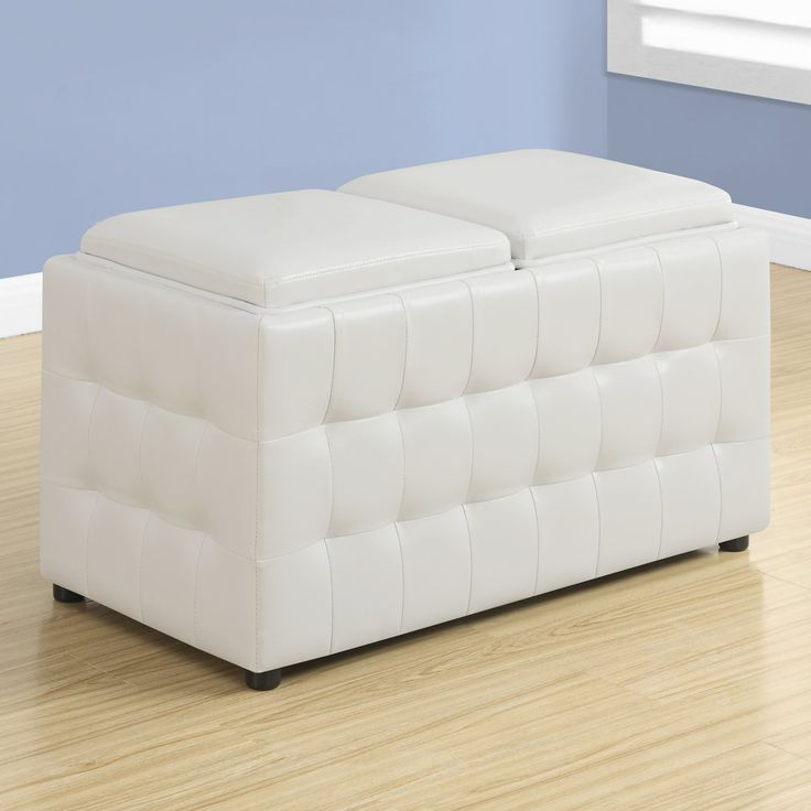 Monarch Specialties Elroy Ottoman with Storage Tray | from hayneedle.com