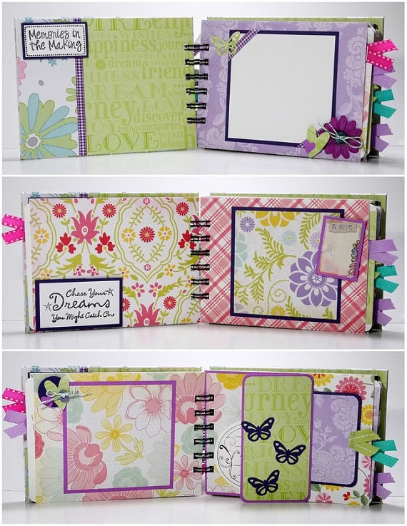 Scrapbook Mini Album Premade, Life is Beautiful, Live Love Laugh #EasyPin