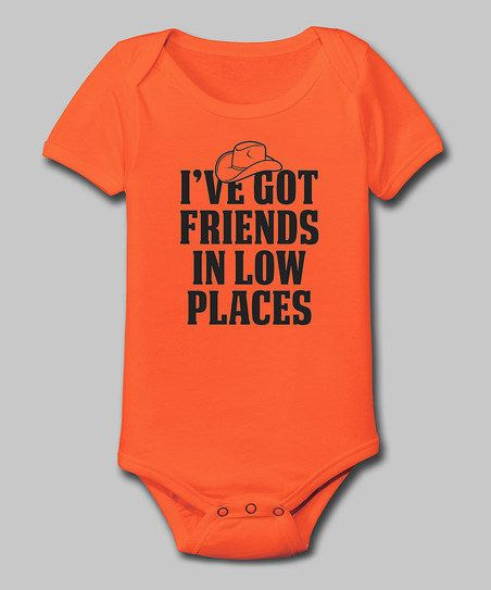 Orange 'Friends in Low Places' Bodysuit - Infant