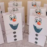 Olaf Frozen Favor Bags and Sno-cone Cups