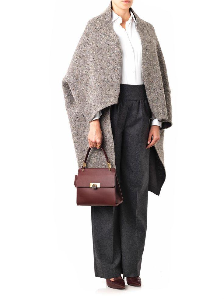 Valentino Wool melange cape