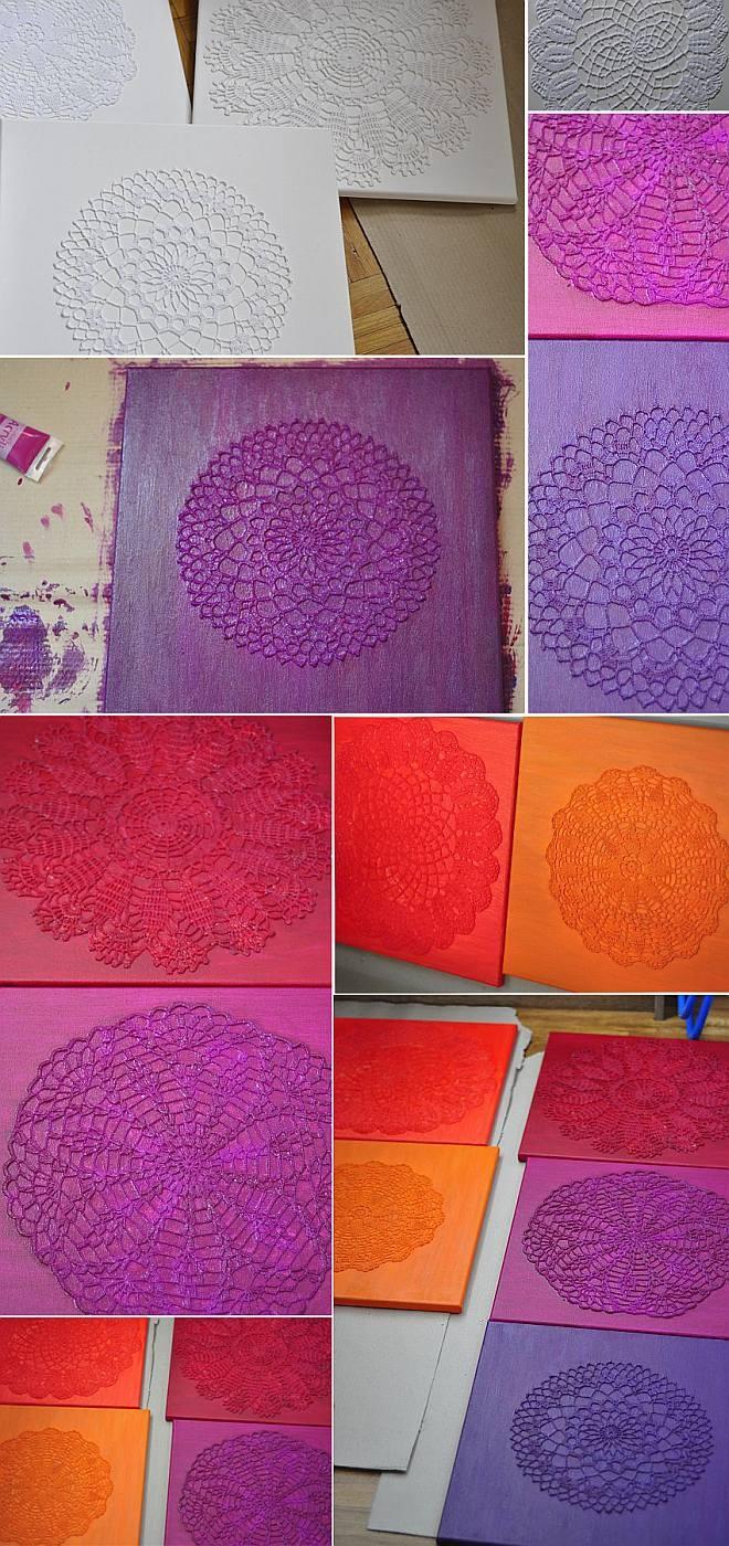 Takie coś będzie wisiało u nas na ścianie :) Jeszcze w trakcie powstawania - schnie pierwsza warstwa farby :)