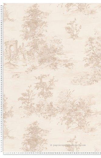Paysage grège - Papier peint Romantica 3 d'AS Création