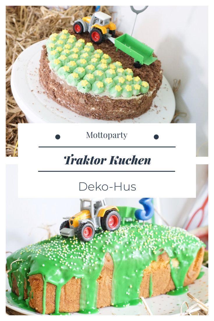 Traktor Geburtstag Einladung Torte Deko Kindergeburtstag