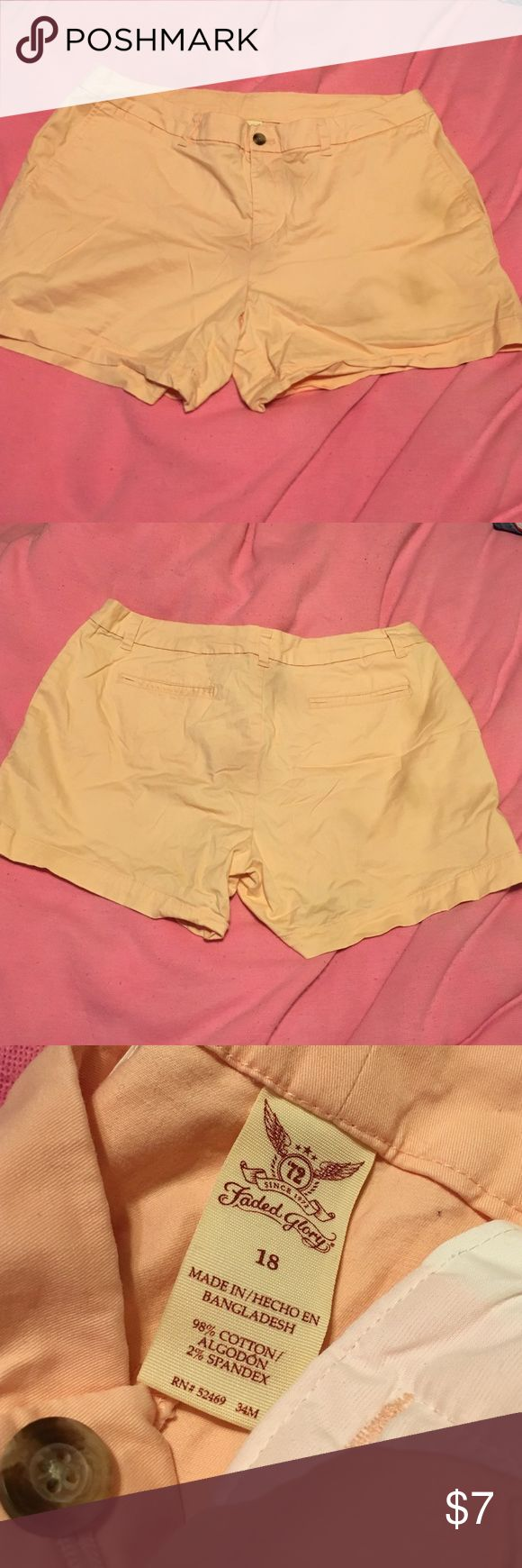 "🍑🍑Peach Shorts Faded Glory peach shorts. 3.5"" inseam. Very stretchy and comfy! It has a mini change pocket as well. Worn only a handful of times and can be dressed up or down Faded Glory Shorts"