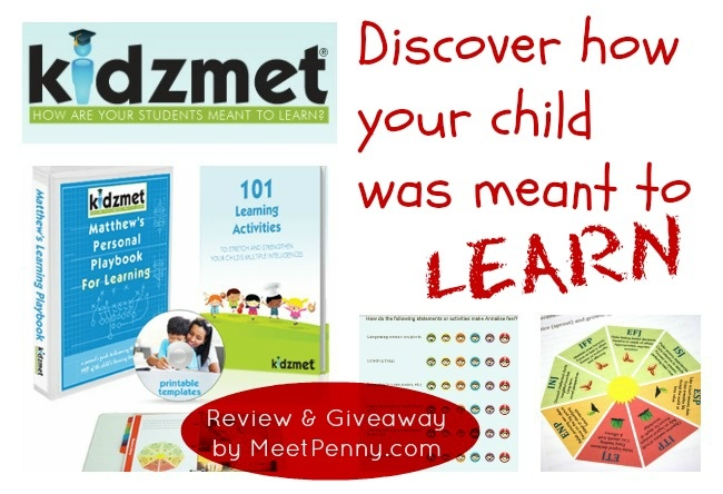Your child's learning language doesn't need to be a mystery. Discover how your child was meant to learn with the free profile at Kidzmet and enter to win a Personal Playbook for Learning.