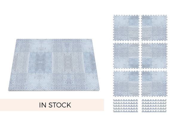 4ft x 6ft | 24 square feet FREE SHIPPING | Ships in 3-5 Business Days Includes six 2 ft x 2 ft tiles and twelve edging bonders which may be applied to the outer edges to create a finished look. Click to View Our 2016 Color Look Book  Materials Premium qualityEVA foam with a soft, smooth surface. Meets and ExceedsUS and EU safety requirements. Appropriate for All Ages, 0 Months +. Thickness0.47 inch / 1.2 cm.Click to View ourProduct Safety Info ---  Care Instructions Clean with m...
