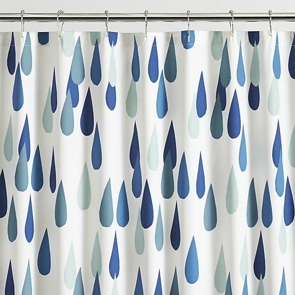 Marimekko Iso Pisaroi Shower Curtain | Crate and Barrel