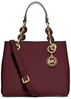 Michael Kors Cynthia Small Leather Satchel.See more inspirations at: http://insplosion.com/inspirations/